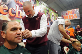 "The Virginia Tech baseball program held its third annual ""Shave for"